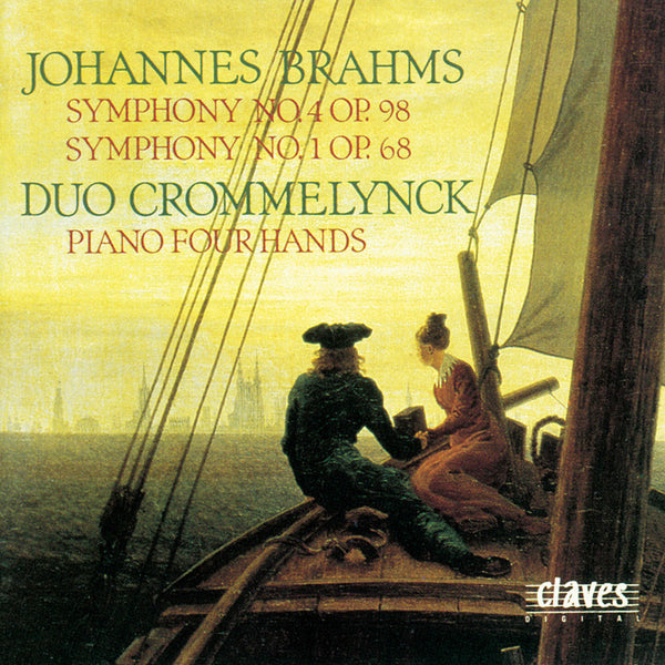 (1990) Brahms: Symphony No. 4 & No. 1 (Original Versions for Piano Four Hands) - CD 9012 - Claves Records