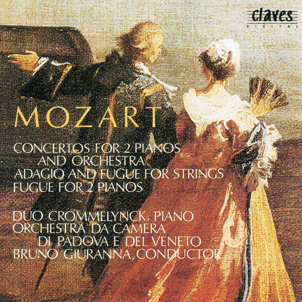 (1990) Mozart: Concertos for Two Pianos and Orchestra, K. 365 & 242 - Fugue for Two Pianos, K. 426 - Adagio and Fugue for Strings, K. 546 / CD 9022 - Claves Records