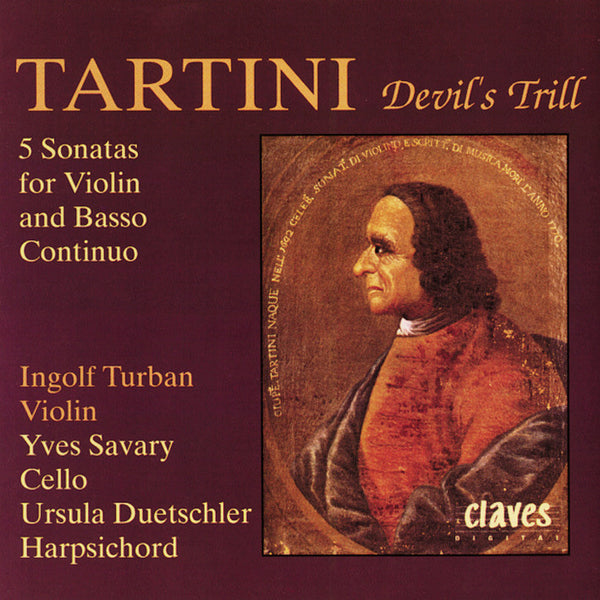 (1991) Giuseppe Tartini: Five Sonatas For Violin & Basso Continuo - CD 9110 - Claves Records
