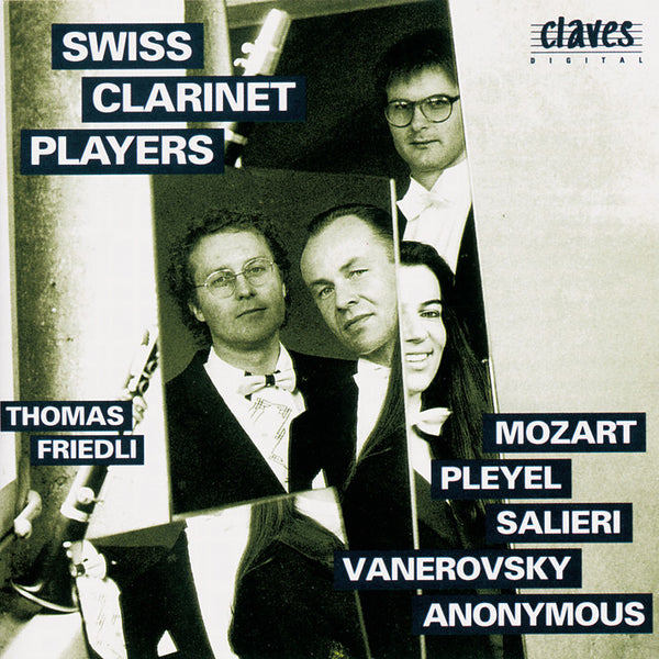 (1992) Classical Works for Clarinet Ensemble - CD 9212 - Claves Records
