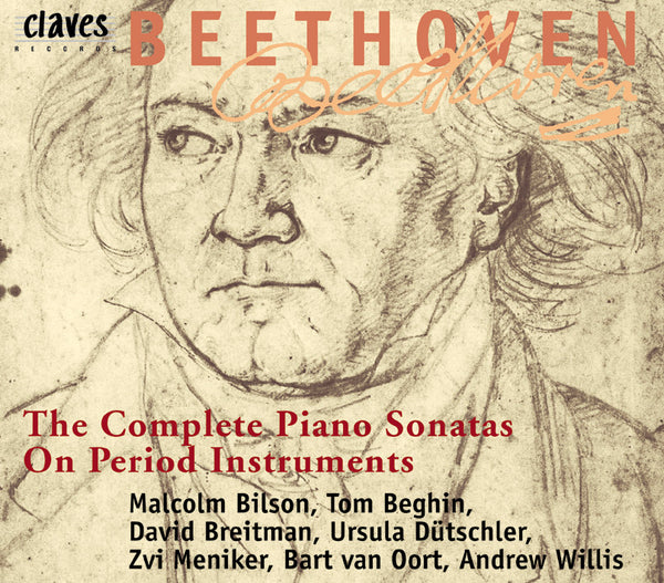(1997) Beethoven : The Complete 32 Piano Sonatas on Period Instruments (In addition, the three Bonn - Kurfürsten - Sonatas) - CD 9707-10 - Claves Records