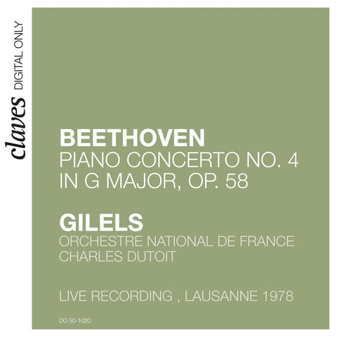 (2009) Beethoven: Piano Concerto No. 4 in G Major, Op. 58 (Live in Lausanne, 1978)