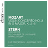 (2009) W.A. Mozart: Violin Concerto No.3 in G Major, K. 216 (Live recording, Lausanne 1976)