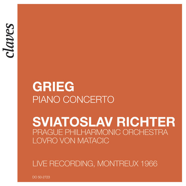 (2007) Grieg: Piano Concerto Op. 16 (Live Recording, Montreux 1966) - DO 2723 - Claves Records