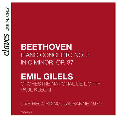 (2009) Beethoven: Piano Concerto No. 3, Op. 37 (Live Recording, Lausanne 1970)