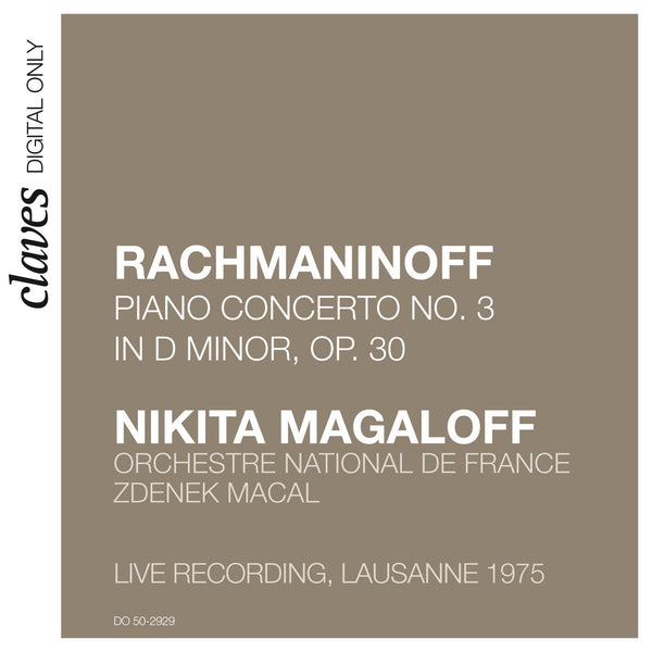 (2009) Rachmaninoff: Piano Concerto No. 3 (Live Recording, Lausanne 1975) / DO 2929 - Claves Records