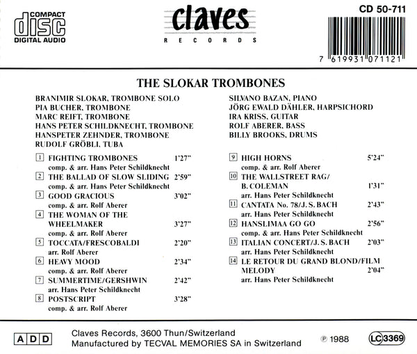 (1988) The Slokar Trombones / CD 0711 - Claves Records
