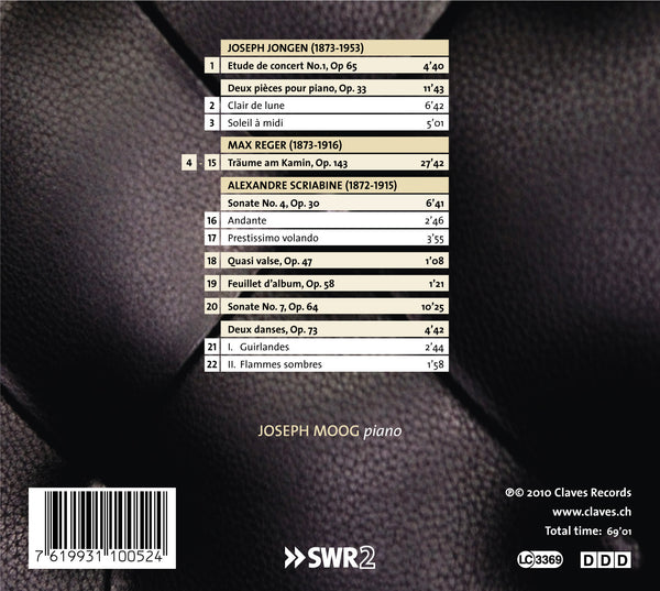 (2010) Jongen, Reger & Scriabin: Divergences - CD 1005 - Claves Records