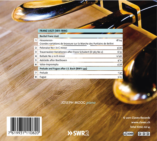 (2011) Liszt: Piano Recital / CD 1108 - Claves Records