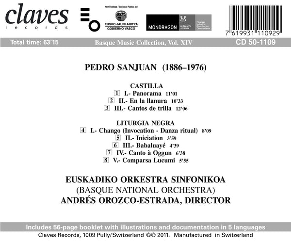 (2012) P. Sanjuán : Castilla - Liturgia Negra / CD 1109 - Claves Records