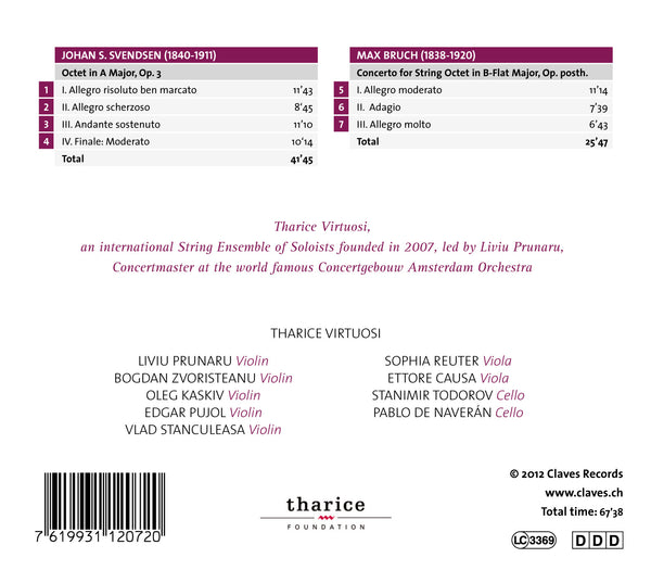 (2012) Svendsen & Bruch: String Octets - CD 1207 - Claves Records