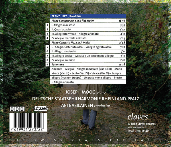 (2007) Franz Liszt: The Two Piano Concertos - Totentanz / CD 2707 - Claves Records