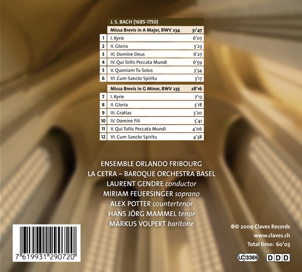 (2009) J.S. Bach: Missae breves BWV 234 & 235 / CD 2907 - Claves Records