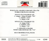 (1986) Mozart: Sonatas K. 497 & K. 521 - Andante with Variations, K. 501 for Piano 4 Hands