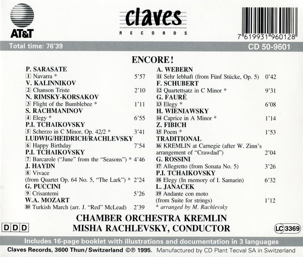 (1995) Encore! / CD 9601 - Claves Records