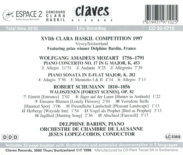 (1998) XVIIth Clara Haskil Competition (Live Recording, Vevey 1997) / CD 9710 - Claves Records