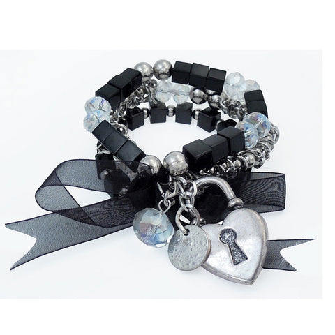 Secrets Stretch Bracelet Black