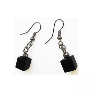 Baccarat Cube Earrings