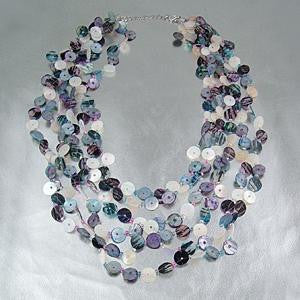 Claudia Button-Shell Necklace