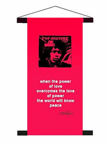 Jimi Hendrix 'Power Of Love'  Mini Banner