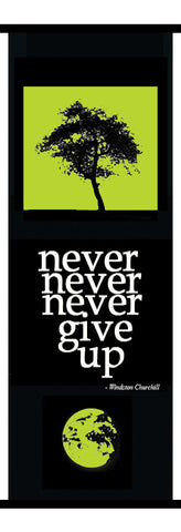 Wall Art - Never Never Banner Green