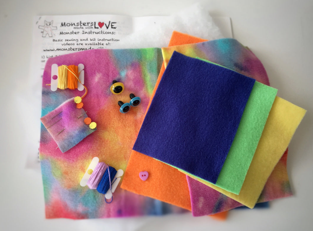 It's Sew Easy to Create Your Own Monster Kit - Rainbow Vomit