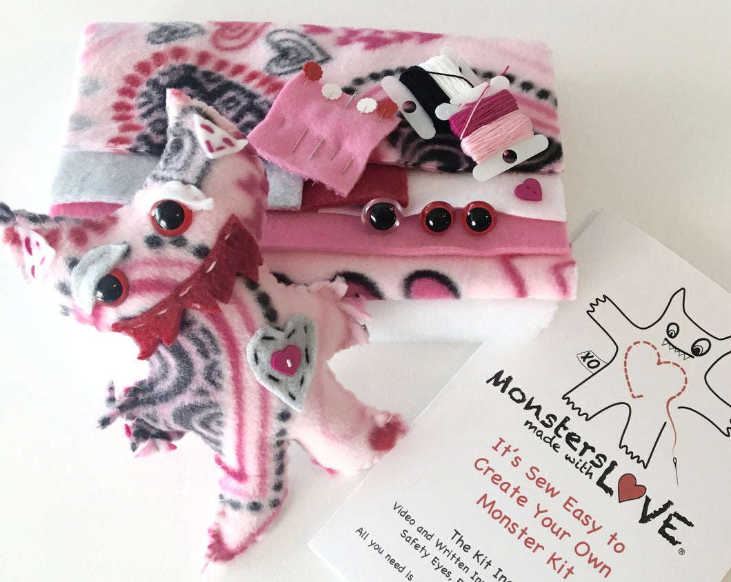 It's Sew Easy to Create Your Own Monster Kit -  Valentine