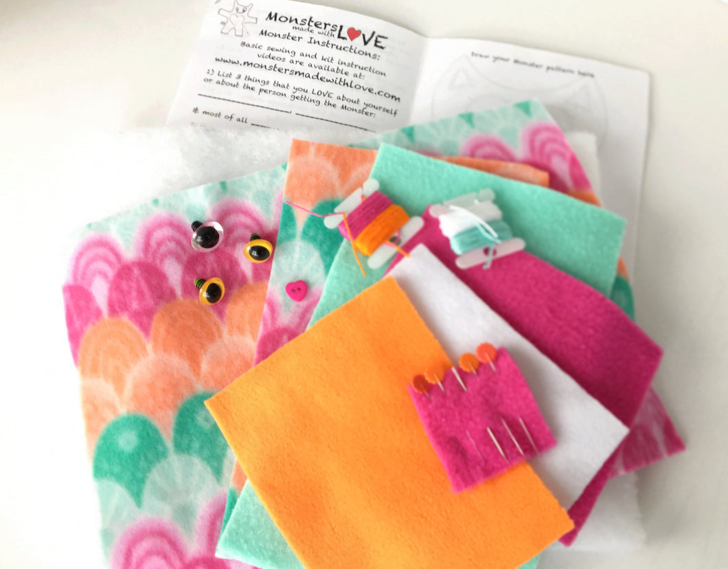 It's Sew Easy to Create Your Own Monster Kit - Sherbet