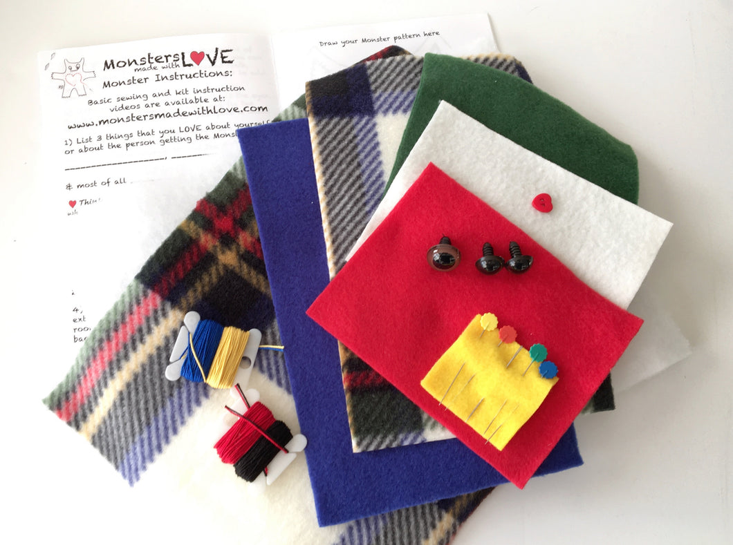It's Sew Easy To Create Your Own Monster Kit - Dad Plaid