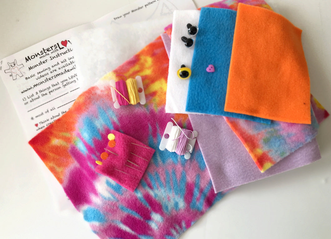 It's Sew Easy to Create Your Own Monster Kit - Pink Trip