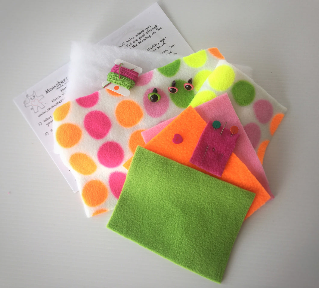 Create Your Own Mini Monster Kit - Neon Dots