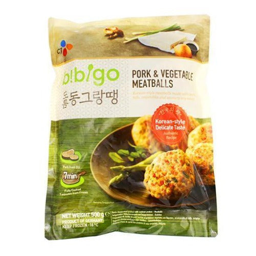 Bibigo pork & vegetable meatballs 500g - K-Mart