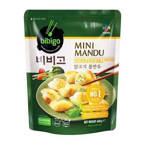 Bibigo mini chicken & vegetable dumpling 400g - K-Mart