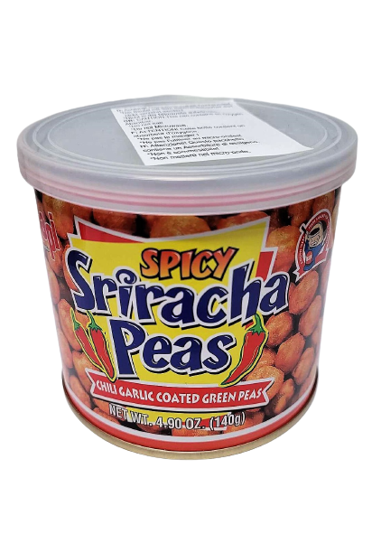 Spicy sriracha flavored peas chili garlic flavored green peas 140g - K-Commerce