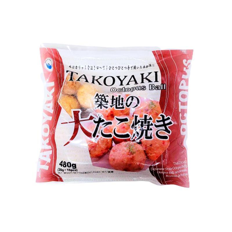 Takoyaki cooked pancake ball with octopus 30g*16pcs - K-Commerce