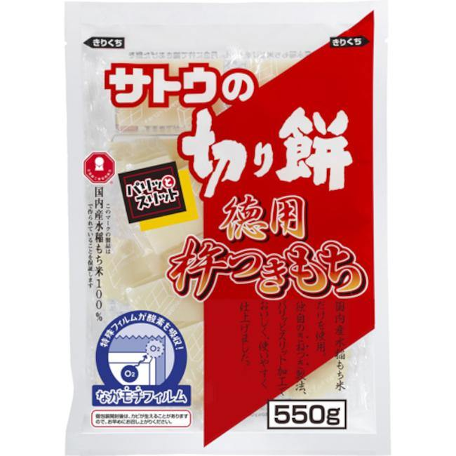 Square cut mochi rice cake 550g - K-Mart