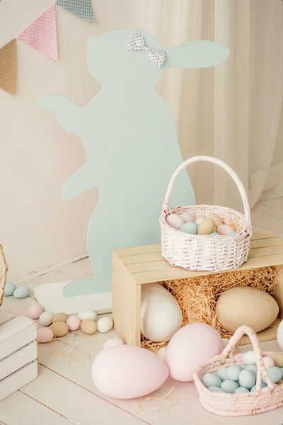Chocolate eggs in the basket