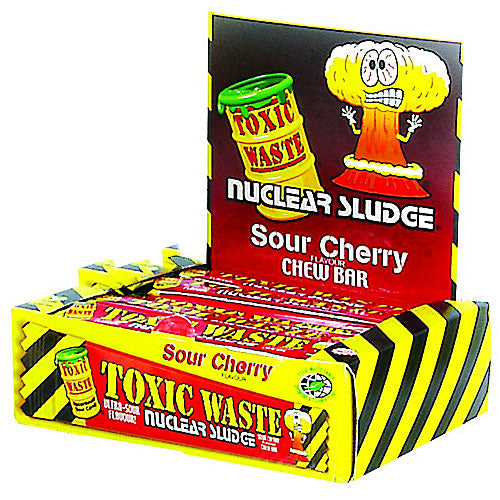 Toxic Waste Cherry Chew Bars - 50 Count