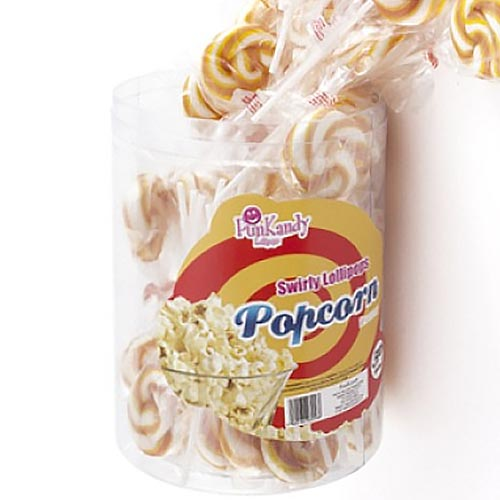Fun Kandy Popcorn Pops - 50 Count