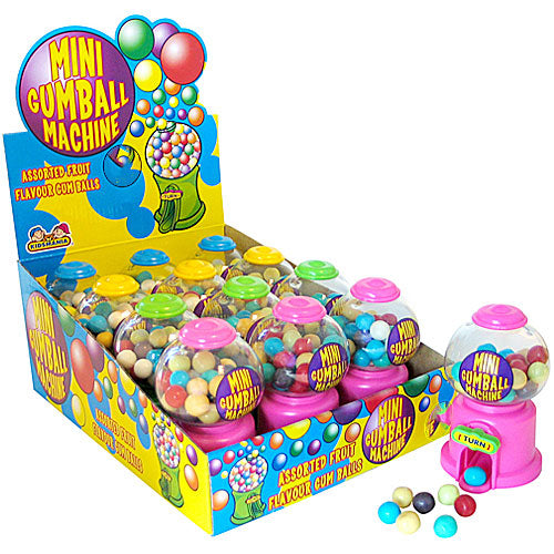 Crazy Candy Factory Mini Gumball Machine - 12 Count