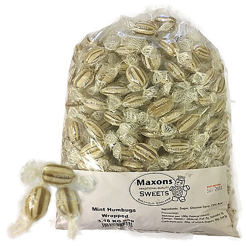 Maxons Wrapped Mint Humbugs - 3.18kg