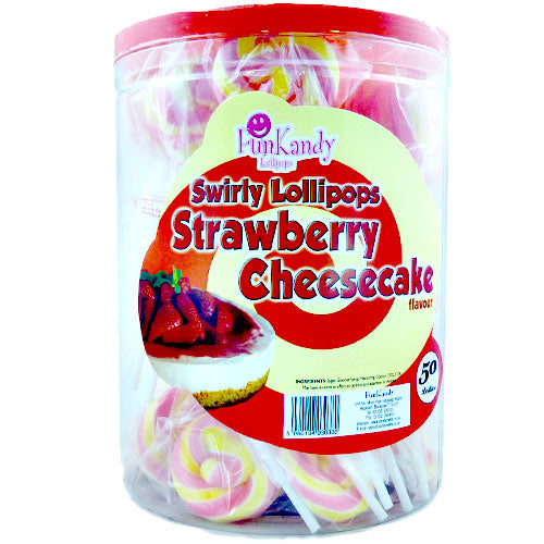 Fun Kandy Strawberry Cheesecake Pops - 50 Count