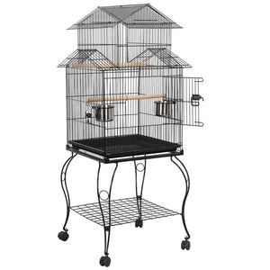 55-inch Rolling Bird Cage Triple Roof