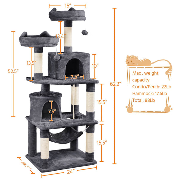 "62.2"" Large Cat Tree"
