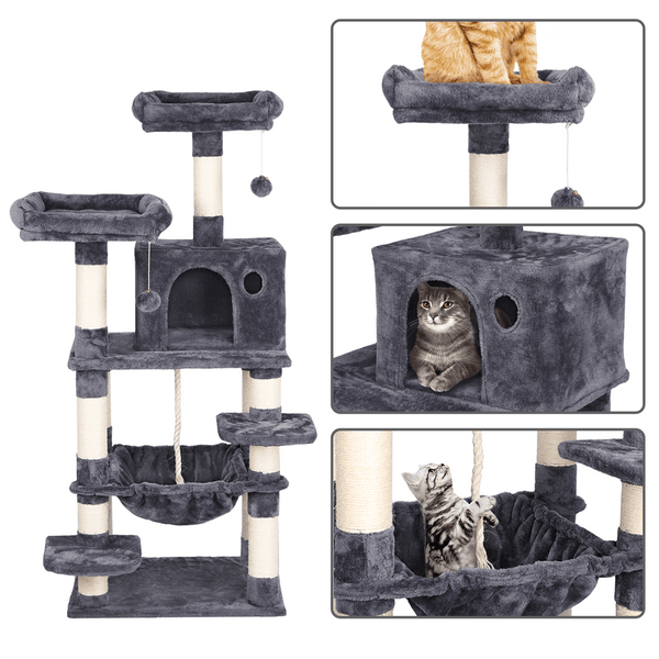 "57.5"" H Cat Tree with Condo"