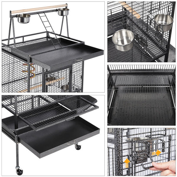 68.5'' Rolling Parrot Cage