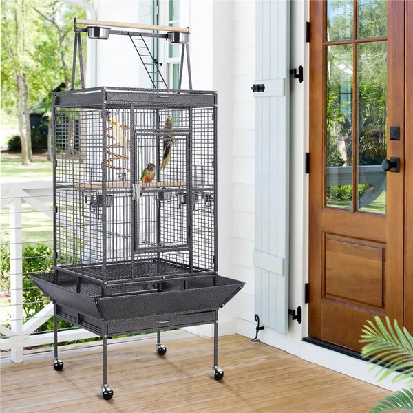 "68.5"" Rolling Parrot Cage"