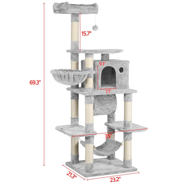 "69.5""H Large Cat Tree"