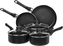 Load image into Gallery viewer, AmazonBasics Non-Stick Cookware Set, Pots and Pans - 8-Piece Set