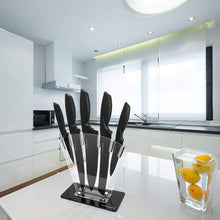 Load image into Gallery viewer, Chef Knife Set Knives Kitchen Set - Stainless Steel Kitchen Knives Set Kitchen Knife Set with Stand - Plus Professional Knife Sharpener - 7 Piece Stainless Steel Cutlery Knives Set by Home Hero